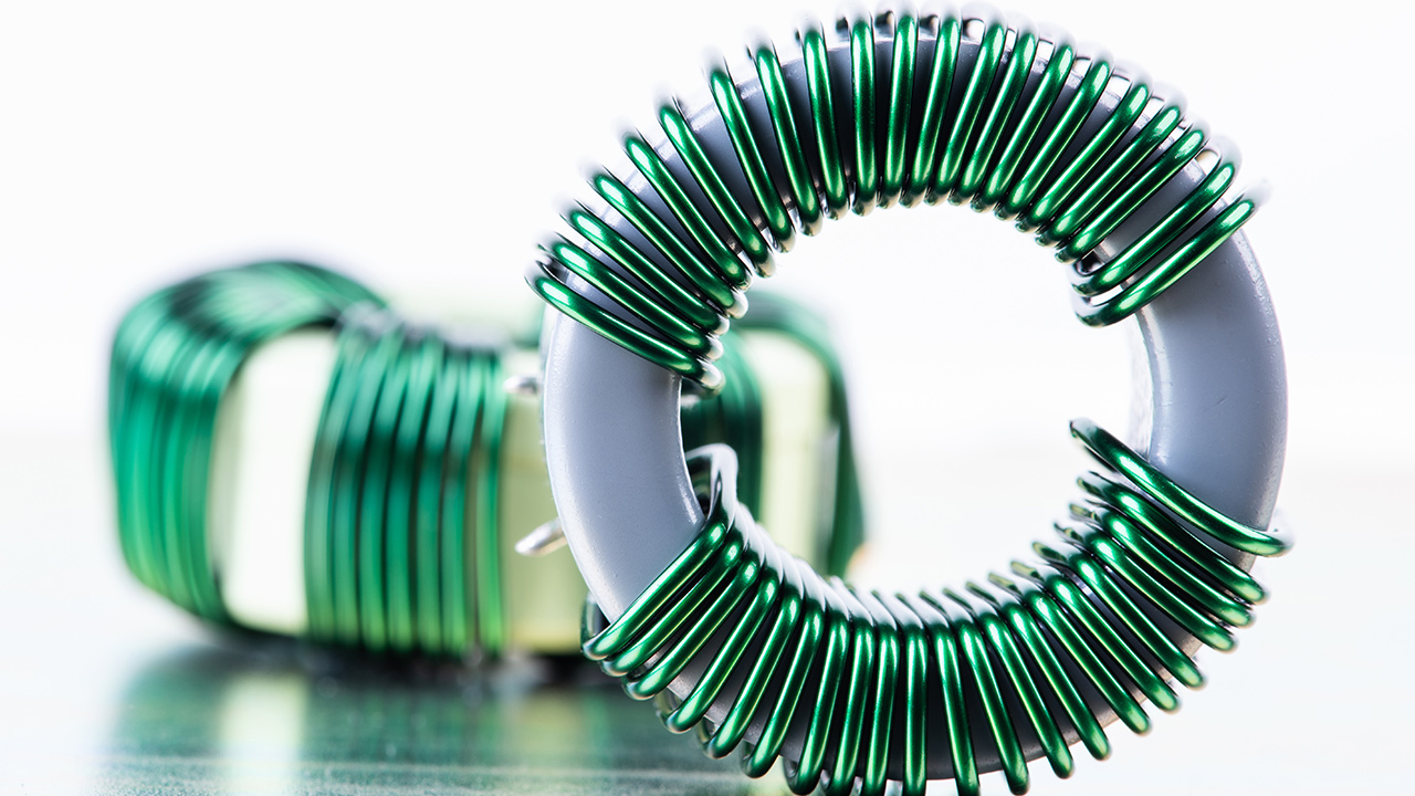Electromagnetic-Component-Inductor-Copper-Coil-Close-up