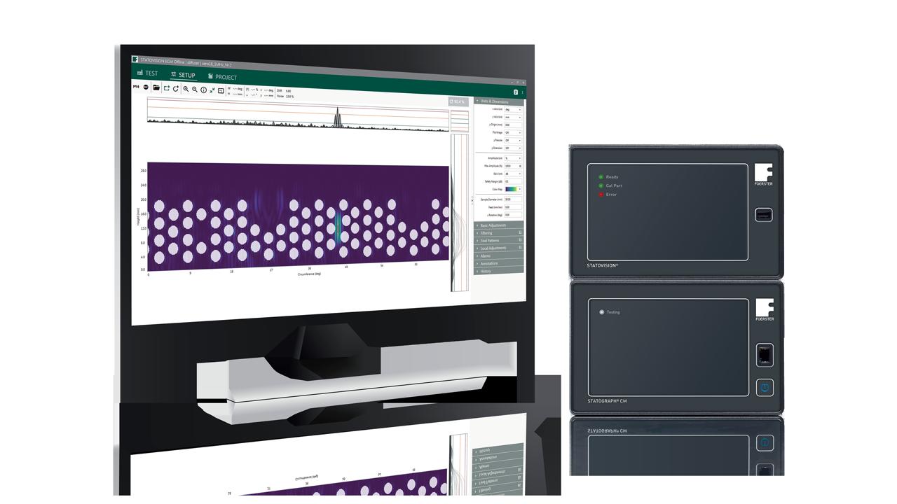 Statovision-Software zusammen mit dem Statograph